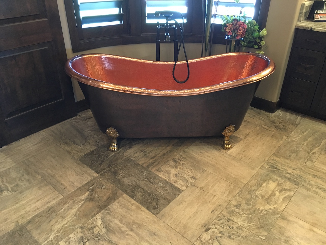 The finished bathroom as seen in the 2017 St. George Parade of Homes