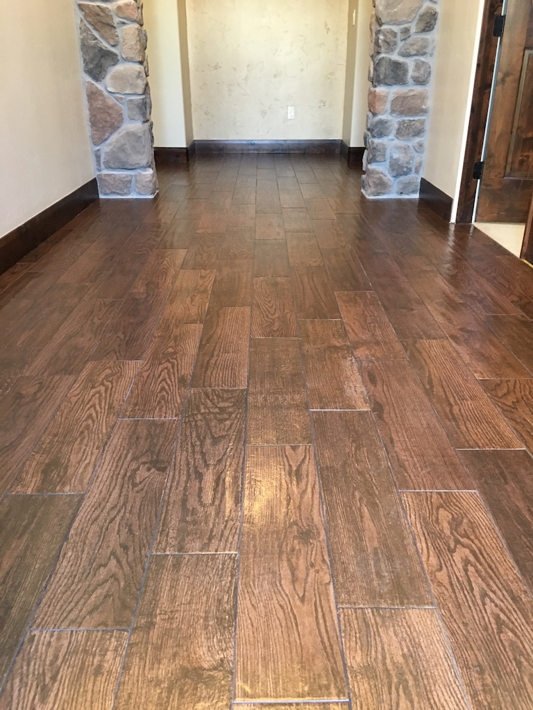 """Topical sealer applied to """"wood like"""" plank porcelain"""