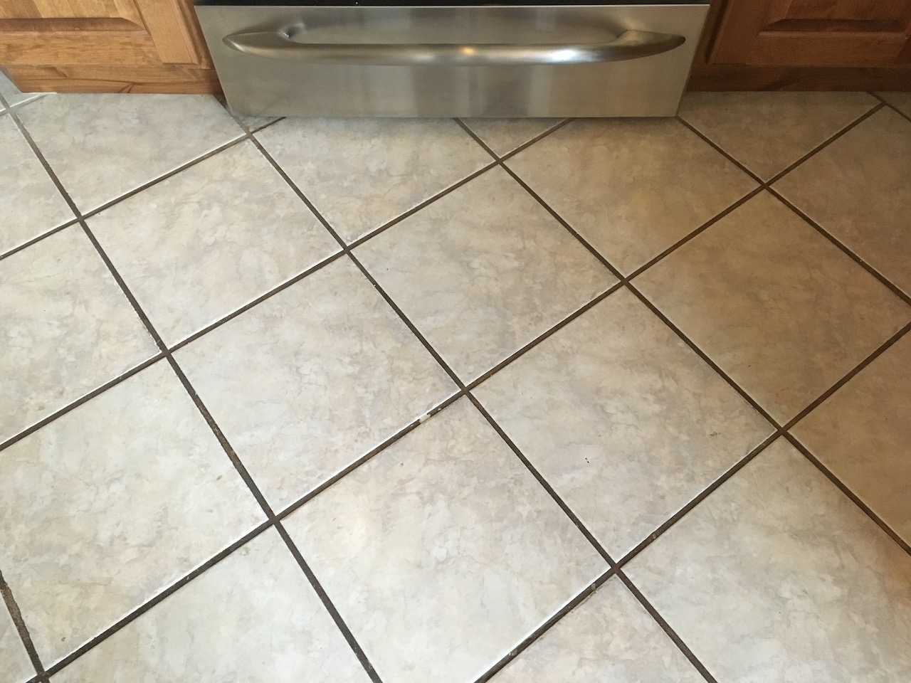 Nice tile, but the homeowner hated the color of the grout