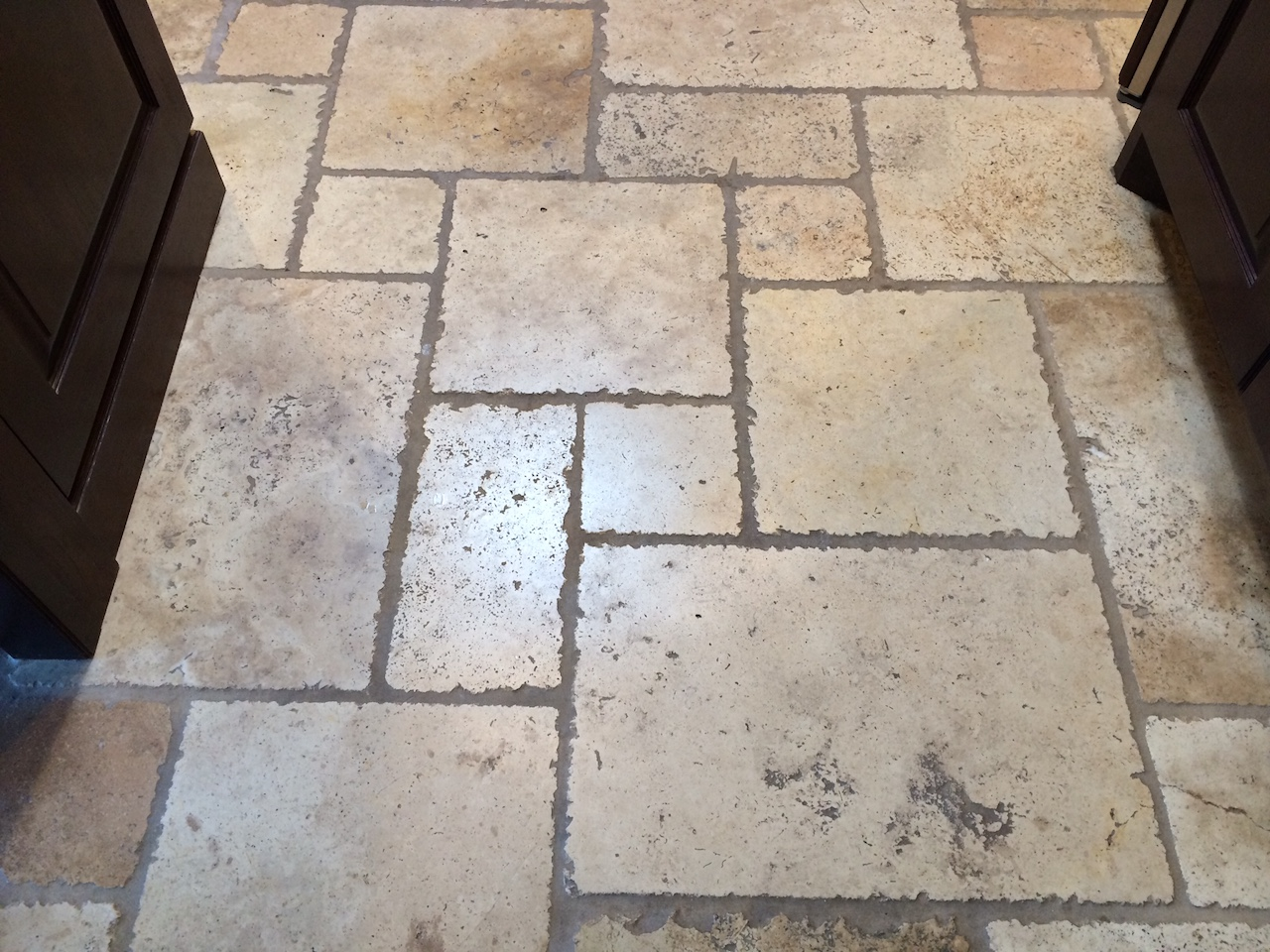 A beautiful floor showing normal wear before cleaning