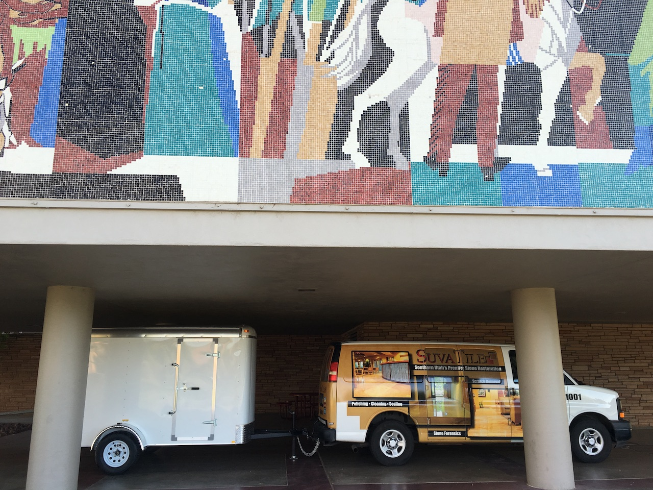 The Dixie State University Mural is big....really big!