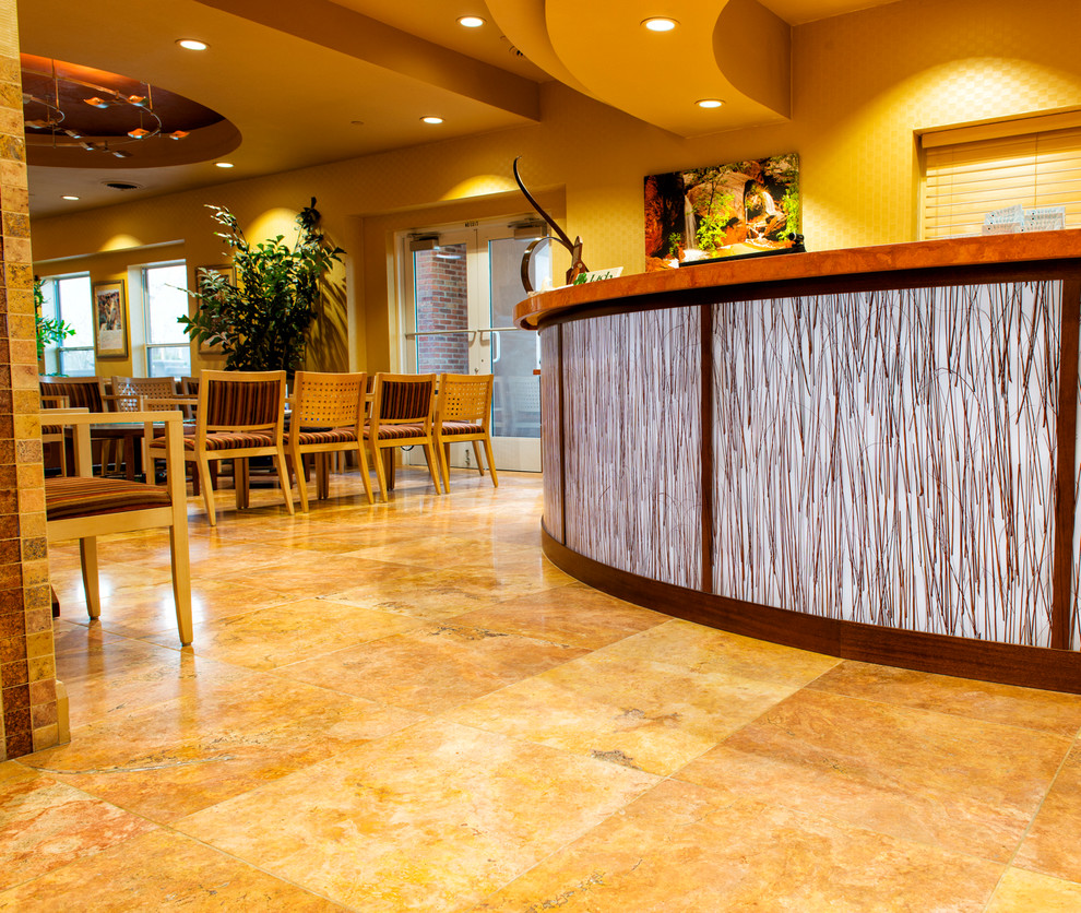 Reception desk at the Richens Eye Center