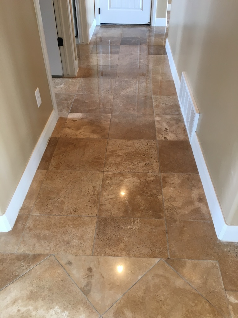 After polishing, this floor has a warm glow
