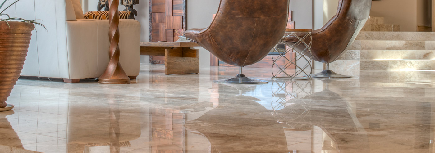 Stunning marble floors
