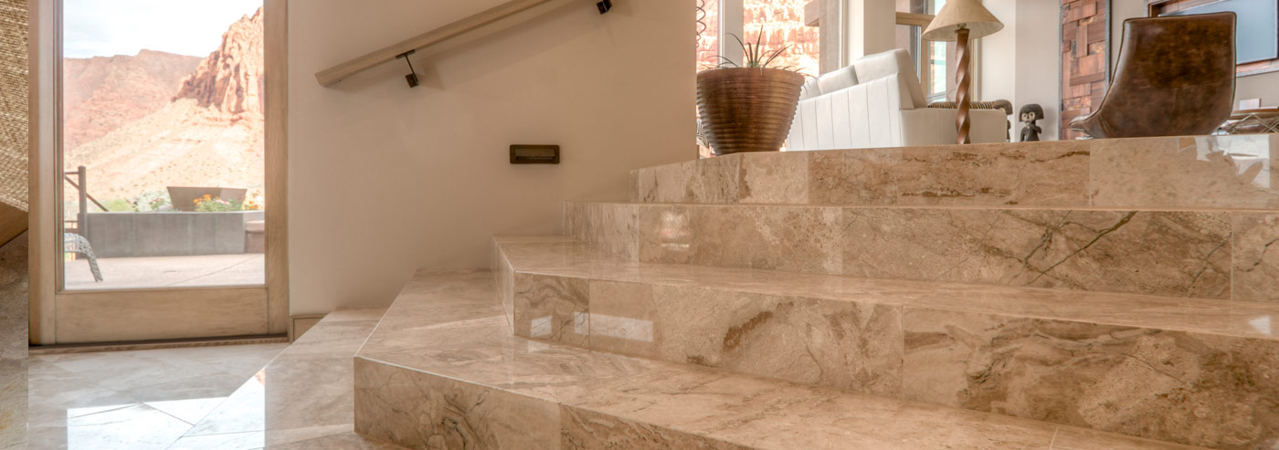 Beautiful marble stairs.